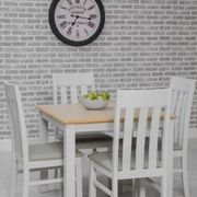 Ohio Table & 4 Slatted back Chairs