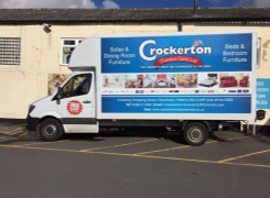 Side view of Crockertons van