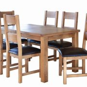 Hampshire Extended Table & 6 ladder Back Chairs
