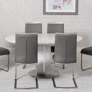Allure round extended table & 6 franklin chairs