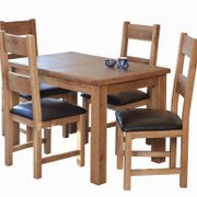 Hampshire extending table & 4 ladder back chairs
