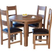 Hampshire round extendig table & 4 ladder back chairs