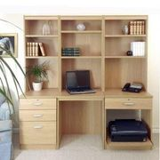 Desk with bookcase and drawer unit