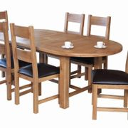 Hampshie Extended Oval Table & 6 Ladder Back Chairs